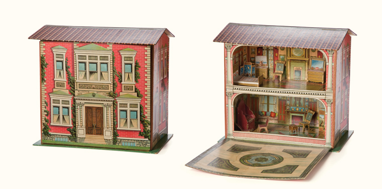 McLoughlin Brothers Folding Dollhouse