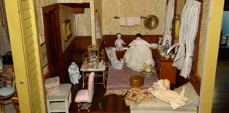 A Doll Abode with a Simple Commode