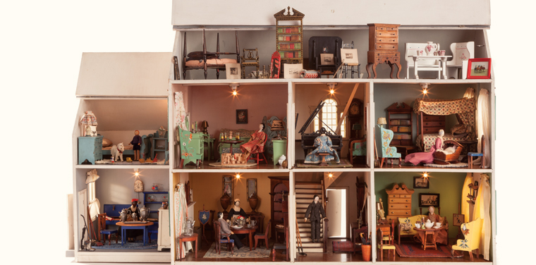 Dollhouse Exhibition And Toy: Finely Furnished: The Tynietoy Town House