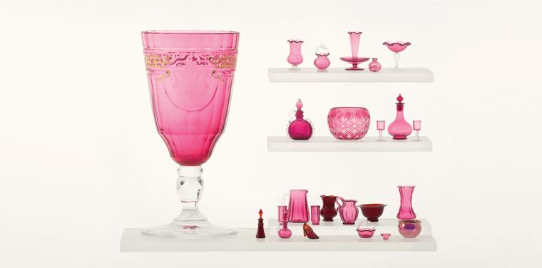 miniature cranberry glass