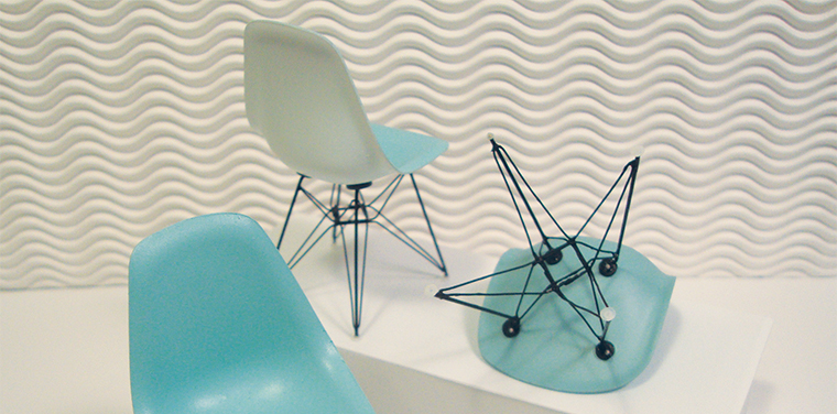 Fine-scale mid-century modern chairs by Michael Yurkovic.