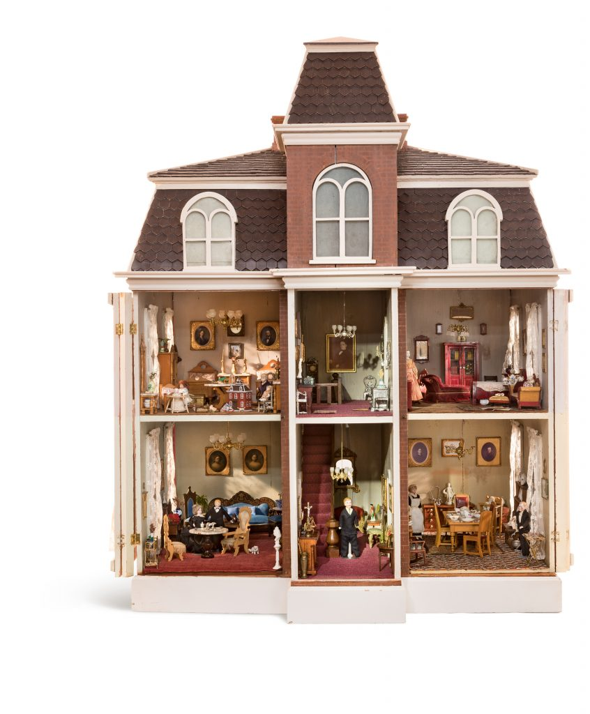 Black Metal Dolly Dolls House Miniature Toy Miniatures