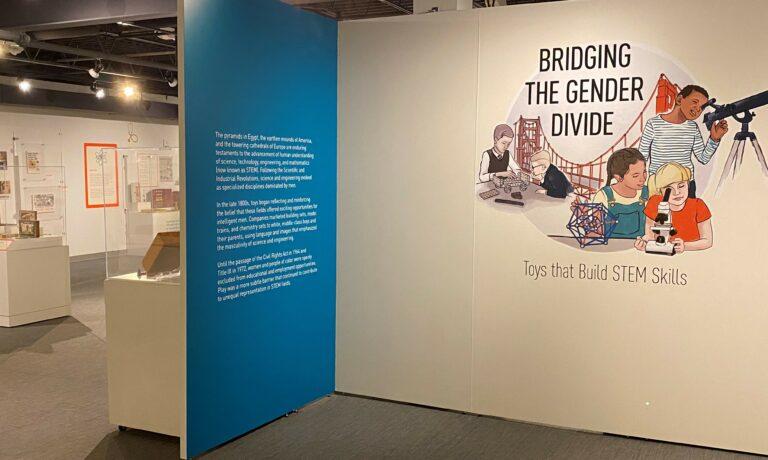 STEM exhibit entrance wall